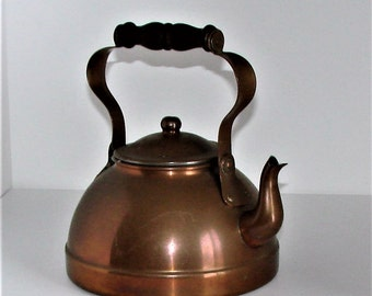 Old Teapot Copper Teapot Great Usable Kitchen Decor