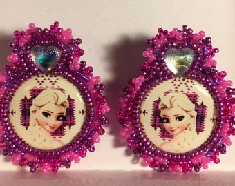 Beaded Elsa Frozen Earrings