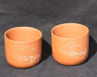 Chinese Tea Cup, Chinese Clay, Clay Cup, Tea Cup, Yixing Tea Cup, Carved Tea Cup