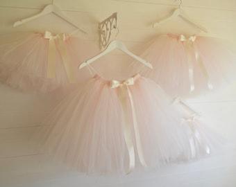 Girls tutu, flower girl, tulle skirt, pink flower girl tutu skirt, tutu dress, tea length, tulle skirt, tutu skirt, flower girl dress