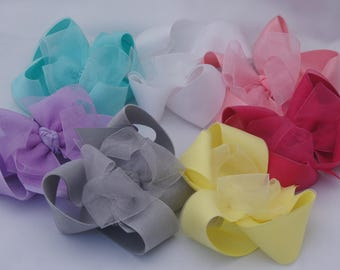 Organza Double Layer Hair Bow