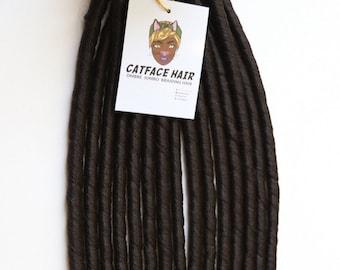 Catface Faux Locs Dark Brown  for Crochet Braids