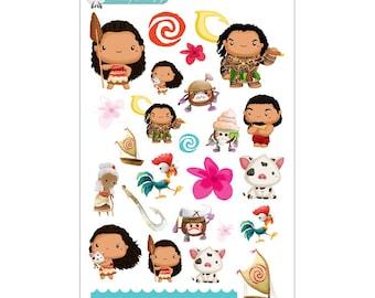 Moana Stickers - Disney Planner Stickers