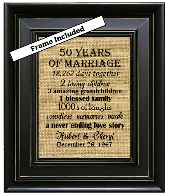 Wedding Gifts 50 Years : /50th Anniversary Gifts/50th Wedding Anniversary Gifts/50 years ...