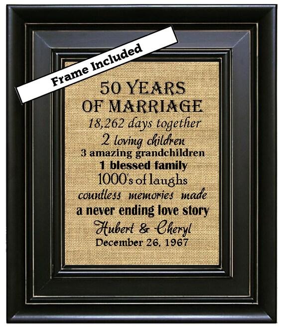 Like this item FRAMED 50th Wedding Anniversary 50th Anniversary Gifts 50th. Gift Ideas For 50th Wedding Anniversary. Home Design Ideas