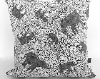 Elephant Cushion Pillow - with beautiful paisley print