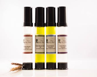 Simple Beauty Facial Oils-Excellent for oil cleansing method, dry, mature, wrinkled, combination, normal, blemish prone skin.
