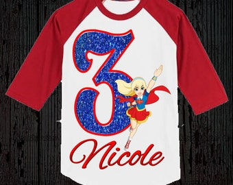 Supergirl Birthday Shirt - Super Girl Birthday Shirt
