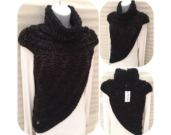 Velvet Katniss Inspired Cowl Wrap Top