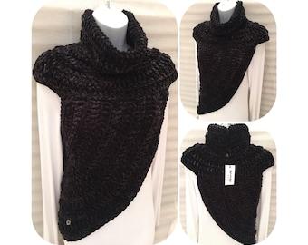 Velvet Katniss Inspired Cowl Wrap Top
