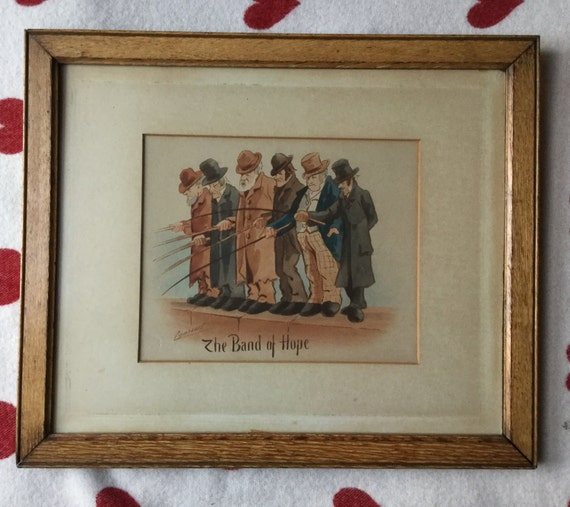 Watercolour painting by Lynicus Tye Band of Hope framed painting