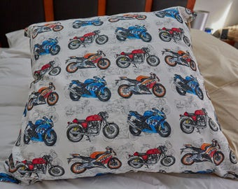 "Sportsbike Motorcycle Cushion Covers | 61cm x 61cm (24"" x 24"") European Cushion Cover 