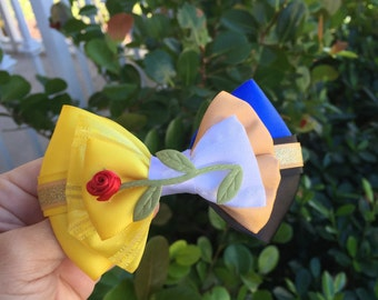 Beauty and the Beast inspired hairbow Deluxe Edition
