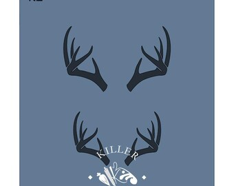 Fast Shipping!!! Antlers Stencil