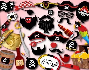 Printable Pirate Party Photo Booth Props, Pirate Theme Photobooth Props, Pirate Birthday Party Photo Booth Props Instant Download, 0020