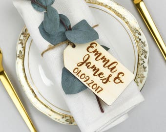 Set of 10 Personalised Wedding/Party Place Name Tags