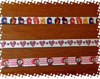 3/8 Wide Custom Made Adjustable Breakaway Girly Patterns Cat Collar