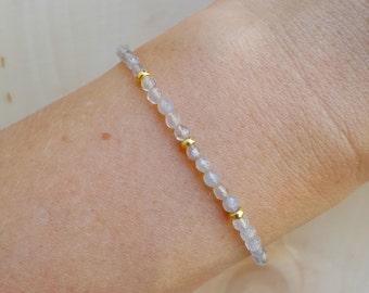 Grey Agate Layering Bracelet