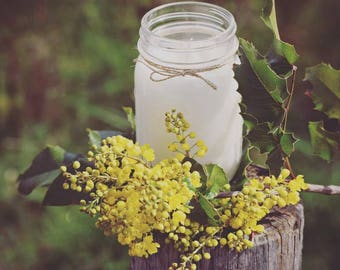 16 ounce all natural soy candle - mason jar candle - all natural soy candle - spring candle - spring scents