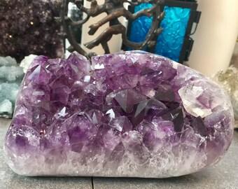 SALE!!!!!  Brazilian Amethyst crystal geode cluster E170156