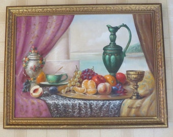 Karoly Reinprecht Oil Painting Still Life Landscape Signed Listed American Art