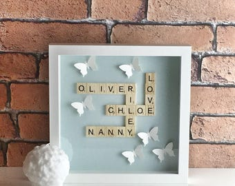 Scrabble wall art, Scrabble frame,Scrabble word,Scrabble pictures,Scrabble Tiles, Scrabble design,Scrabble art,Scrabble art