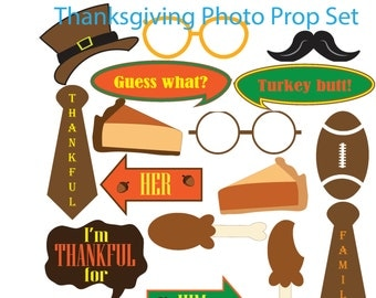 SALE * Thanksgiving Photo Booth Props
