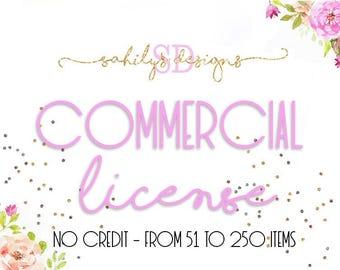 COMMERCIAL LICENSE  one listing digital art