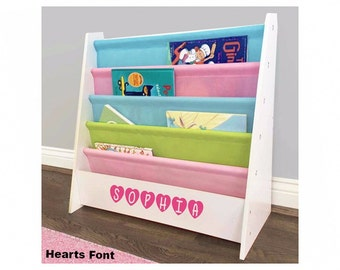 Personalized Dibsies Kids Pastel Bookshelf
