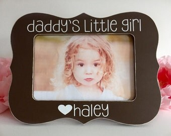 Fathers Day Gift for Dad Daddys Little Girl Dad Picture Frame Fathers Day Gift 4x6 Opening
