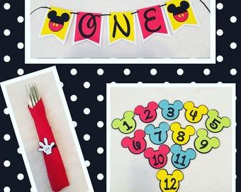 Mickey Theme 1st Birthday Party Decor!!!!