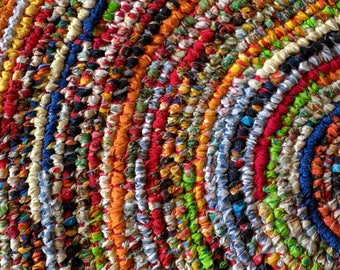 Custom Rug Made Just For You! Deposit for a 5' Round Rag Rug  ~ Multi-Colored