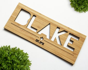 Personalised Name Plaque (Boys)