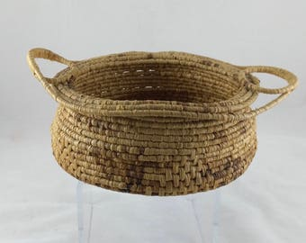 Nice Small Vintage Native American Hand Woven Basket