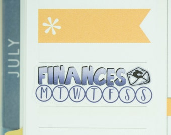 36 Daily Habit Stickers | Planner Stickers designed for use with the Erin Condren Life Planner | 0663
