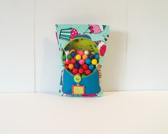 Gum Ball Pouch, Treat Bag, Goody Bag, Party Favor