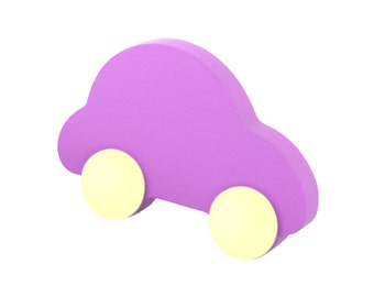 Nursery drawer knobs, Boys cabinet knobs and pulls, Purple dresser drawer handles, Purple car knobs Wardrobe car handles Nursery room decor