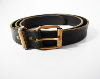 Creem Vintage Leather Belt Brown