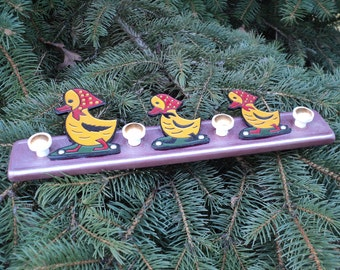 Vintage Soviet Child Coat Rack. 3 Ducks. Child Room Decor. Coat Hook. Hanger. Soviet Era