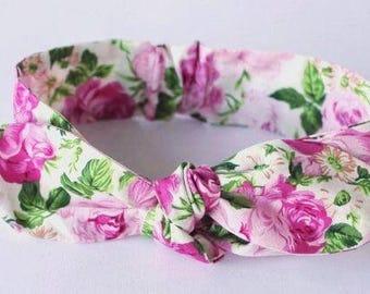 "Floral Knot headband, Womens Headband, Adult Headband, Headband for Women, Girl Headband, Bow Headband, Girl, Women, Headband, ""Addison"""