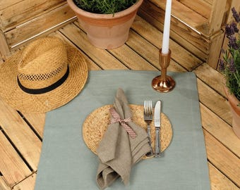 Napkin. Linen Napkin. Oversized Napkin, Linen Placemat, Rustic Napkin, Table Linen, Natural Napkin, Use a Placemat as well! SET 4