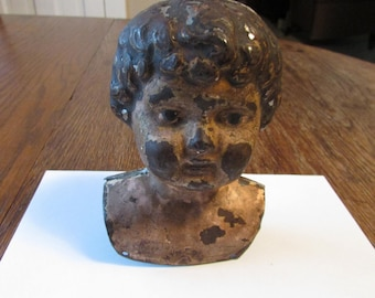 Vintage Minerva Doll Head Germany Metal