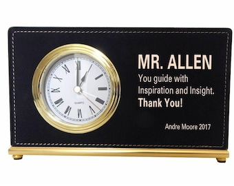 Gift from Employee to Supervisor, Appreciation Gift to my Lead, Birthday Gift to Manager, Custom Gift, Executive Director, Desk Clock, LB011