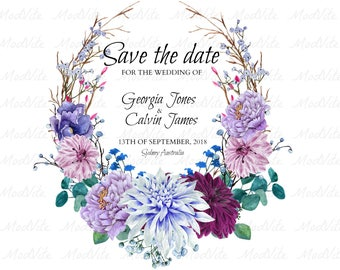 ELEGANT FLORAL - Save the date