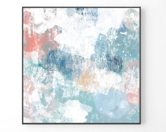 Large wall art, Print from abstract painting, Blue large painting, modern art, blue large abstract, navy blue modern painting BEST SELLER