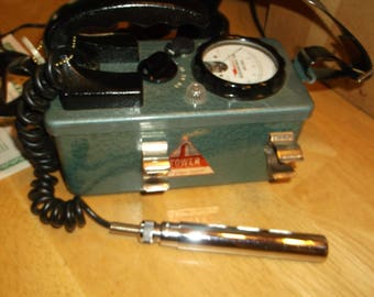 Vintage TOWER Geiger Counter, with accessories, SEARS Model  6157