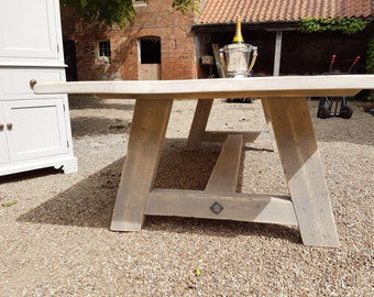 A Frame Dining Table Wooden Handmade in England Bespoke