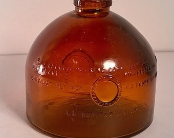 Vintage Anchor Hocking Brown Glass Day Tank Bottle