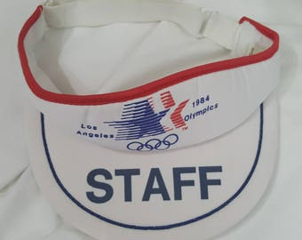 FREE SHIPPING Los Angeles 1984 Olympics Visor Hat Olympic Games Vintage 80s 90s