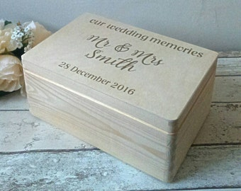 wedding memory box, wedding memories, wedding keepsake box, wedding gift, personalised wedding gift, personalised keepsake, bride and groom